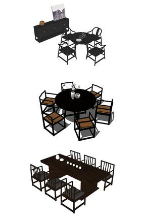 室内餐桌7个模型
