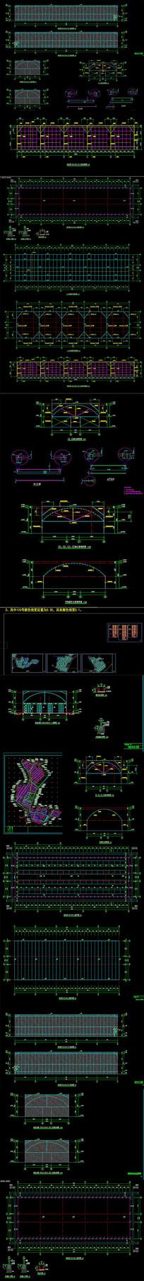 食用菌大棚CAD施工图