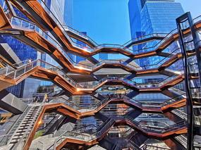 现代建筑广场电梯建筑套图