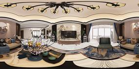 新中式客厅3D模型设计