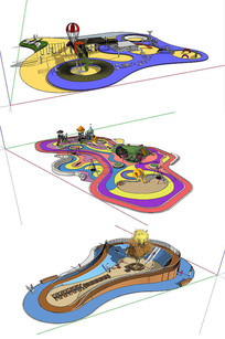 游乐场地SU模型