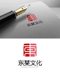中国风红色文化东logo