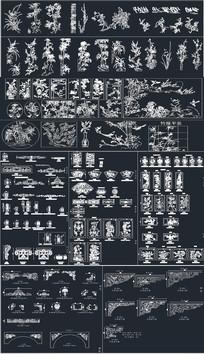 中式整木雕花CAD