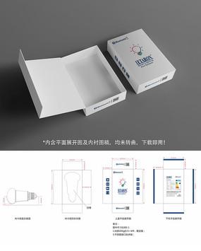 LED蓝牙球泡灯英文高档礼盒包装设计