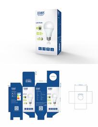 LED球泡灯彩盒设计