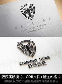 龙logo标志大气商标设计