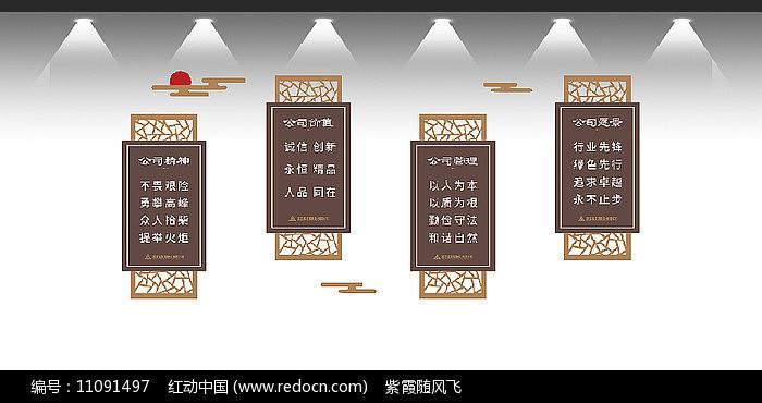 企业宣传标语文化墙设计图片