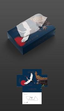 仙鹤抽纸盒包装平面图
