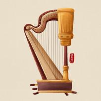 原创乐器之竖琴