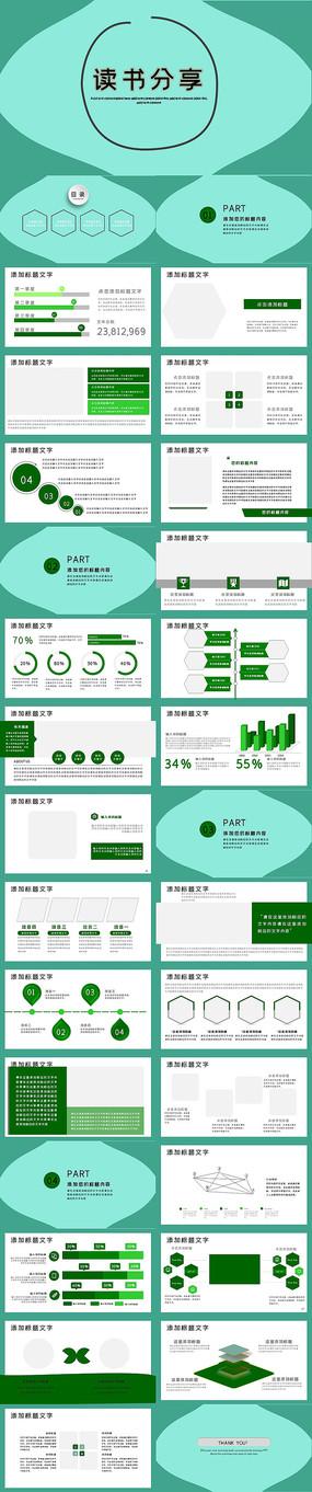 中国读书节好书推荐读书分享PPT模板