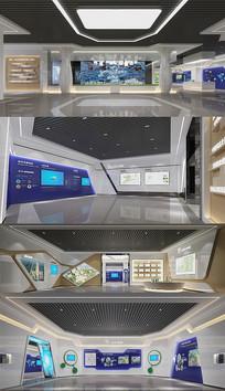 城市展厅3DMAX模型 效果图