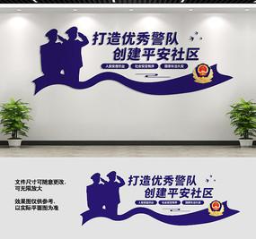 创建平安社区文化墙设计