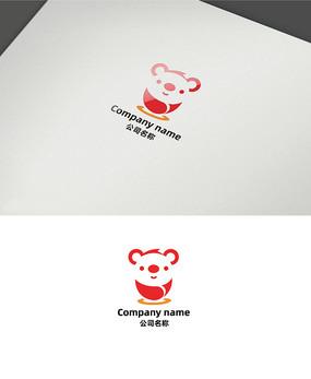 卡通小熊简洁创意logo