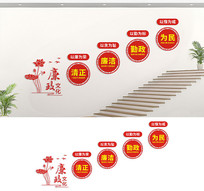 楼梯廉政文化墙宣传标语