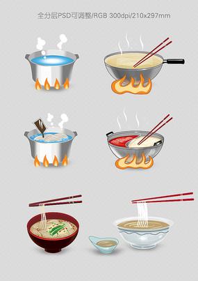 面食食用方法配图设计