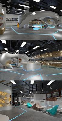 某手机展厅3DMAX模型 效果图