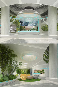 生命科技展厅3DMAX模型 效果图