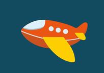 原创手绘儿童卡通飞机玩具插画