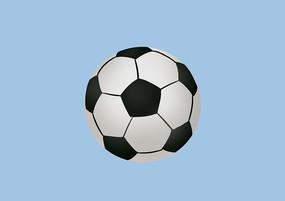 原創手繪兒童卡通黑白足球玩具插畫