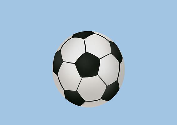 原创手绘儿童卡通黑白足球玩具插画