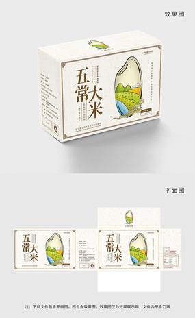 原创中国风五常大米包装