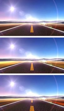 4K公路速度与激情超速行驶刺激赛车游戏视频素材