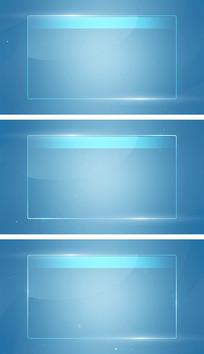 蓝色简约科技线条空间文字边框字幕视频素材