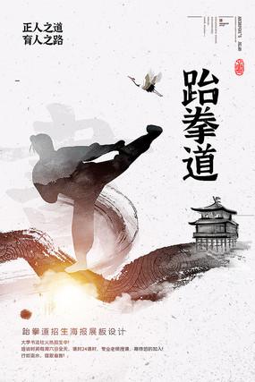 新古典中国风武术跆拳道海报