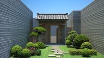 新中式庭院 3D模型