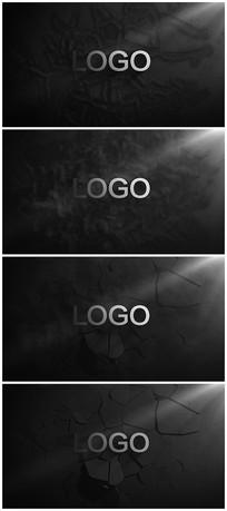 震撼烟雾震碎墙面logo视频