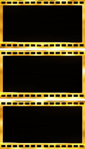 4K金属质感年会颁奖胶片视频边框通道元素视频素材