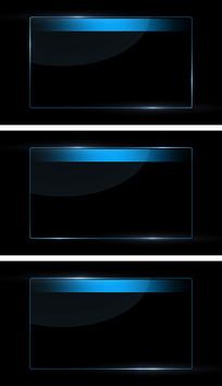 4K蓝色边框字幕板流光循环带通道视频素材