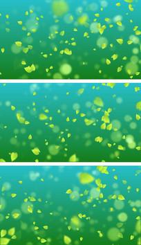4K绿色树叶飘扬气氛萦绕循环视频素材