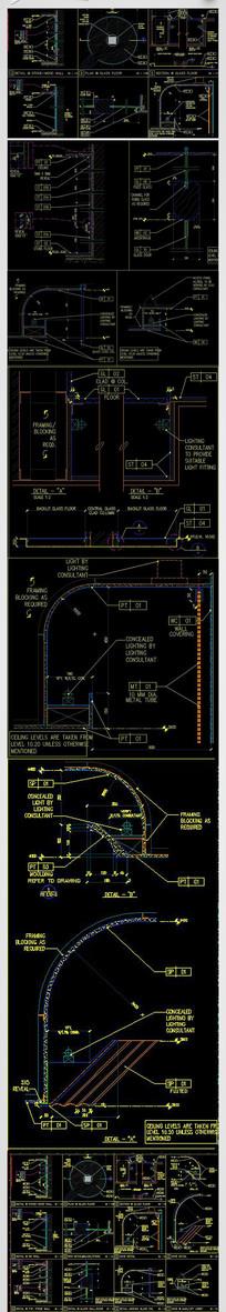 CAD建筑节点剖面图详图施工图纸