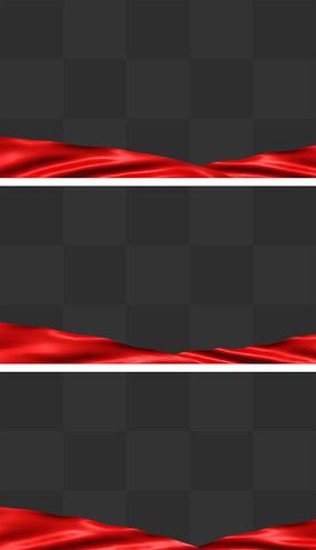 党政新年红绸遮罩粒子通道循环背景视频素材