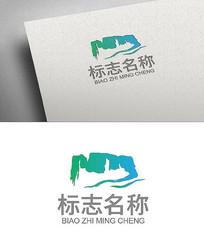 冠豸山水墨风logo