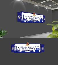 蓝色警营文化墙
