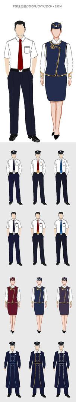 制服卡通设计