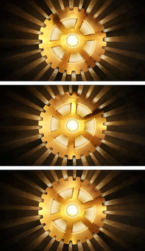 4K工业革命工程齿轮元素视频素材