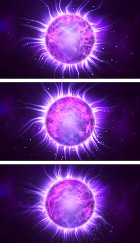 4K水晶球魔法力量舞台表演视频素材