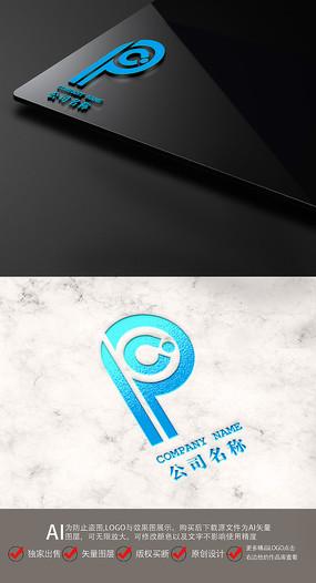 PC字母金融科技LOGO标志设计
