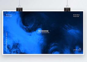 抽象手繪藍色背景板