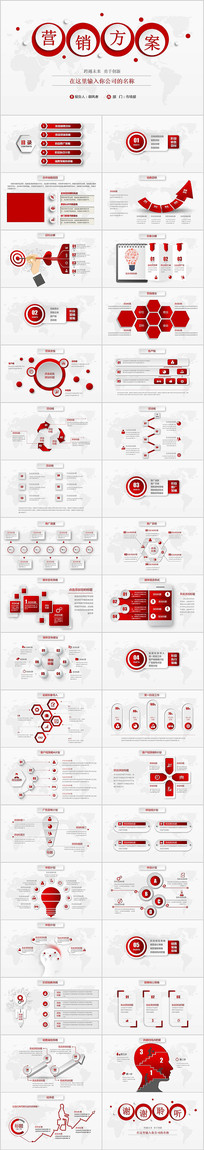 红色大气活动营销方案销售策划PPT模板