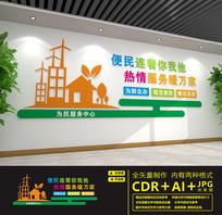 社区便民服务中心文化墙