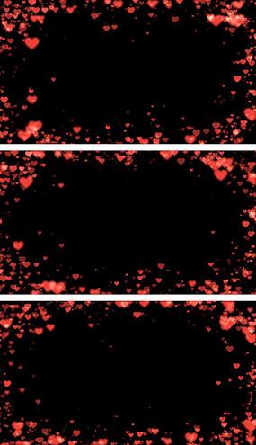 心形爱心遮罩中式婚礼感恩的心婚礼背景视频素材