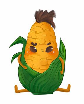原创玉米卡通表情包-生气