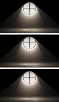 4K窗户透光进室内光束暗黑视频素材