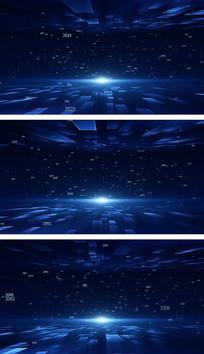 4K简洁网格科技空间点线面元素通用视频素材