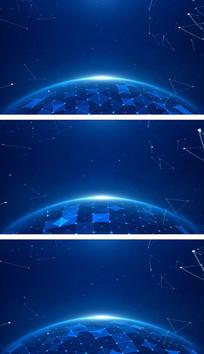 4K蓝色科技空间地球星空通用视频素材