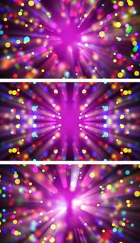 4K紫醉金迷彩色粒子抒情意境背景视频素材